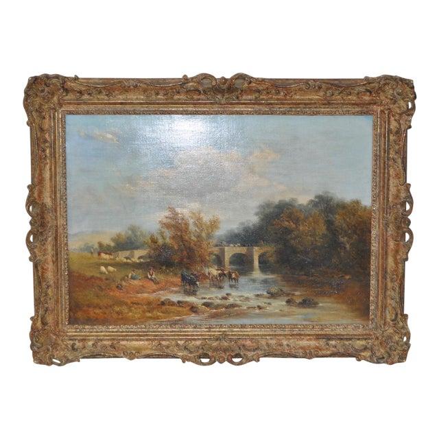 "James Baker Pyne ""Downham, Norfolk"" Original Oil Painting - Image 1 of 11"