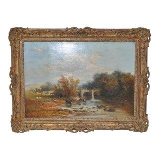 """James Baker Pyne """"Downham, Norfolk"""" Original Oil Painting"""