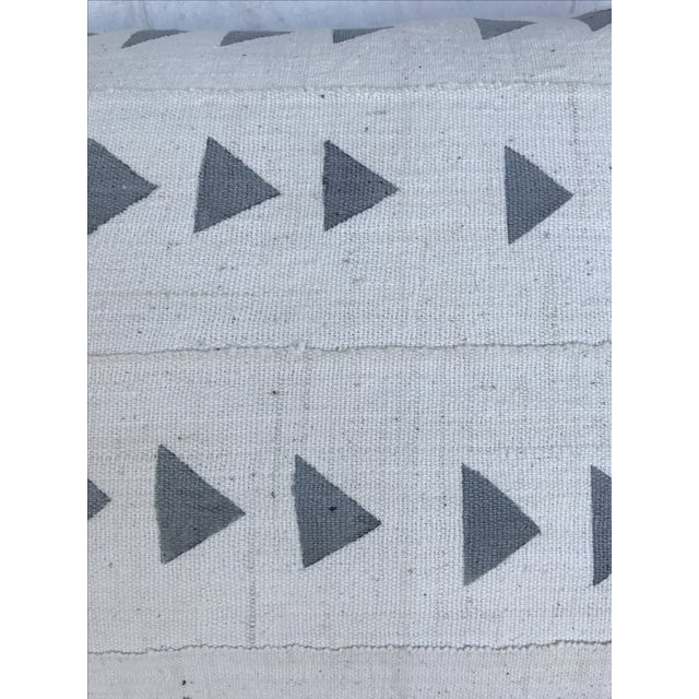 Grey & White Arrow Mud Cloth Textile Pillow - Image 3 of 6