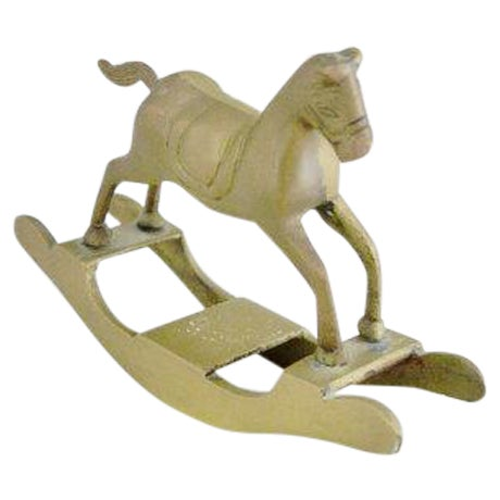 Brass Rocking Horse - Image 1 of 4