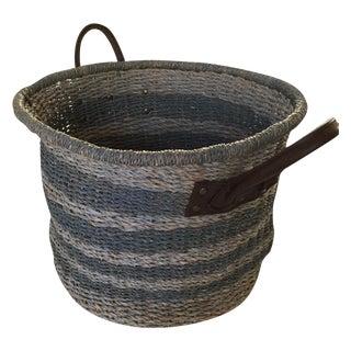 Slate Gray Woven Hamper Basket