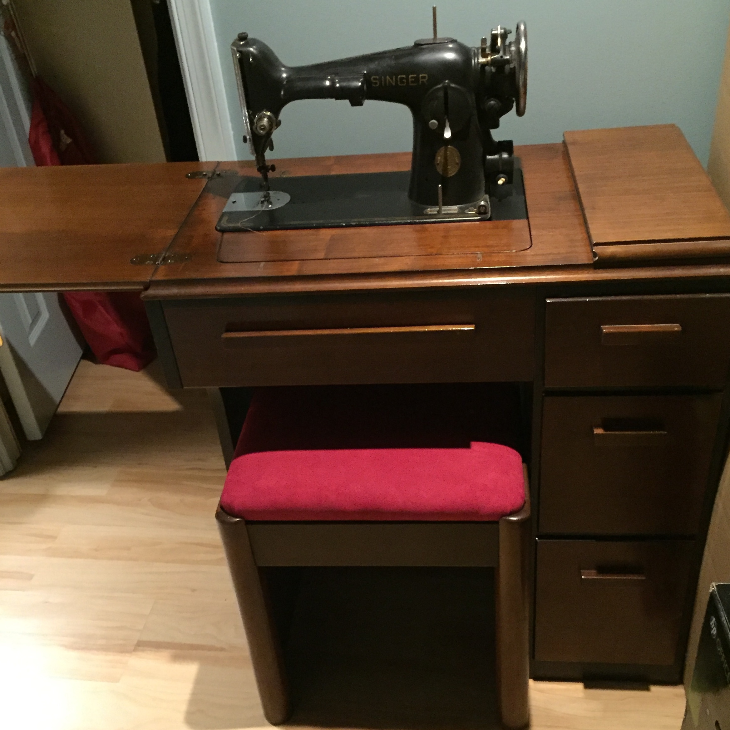 console sewing machine