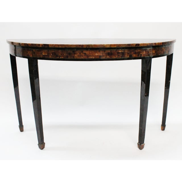 Maitland Smith Demilune Console Table Chairish