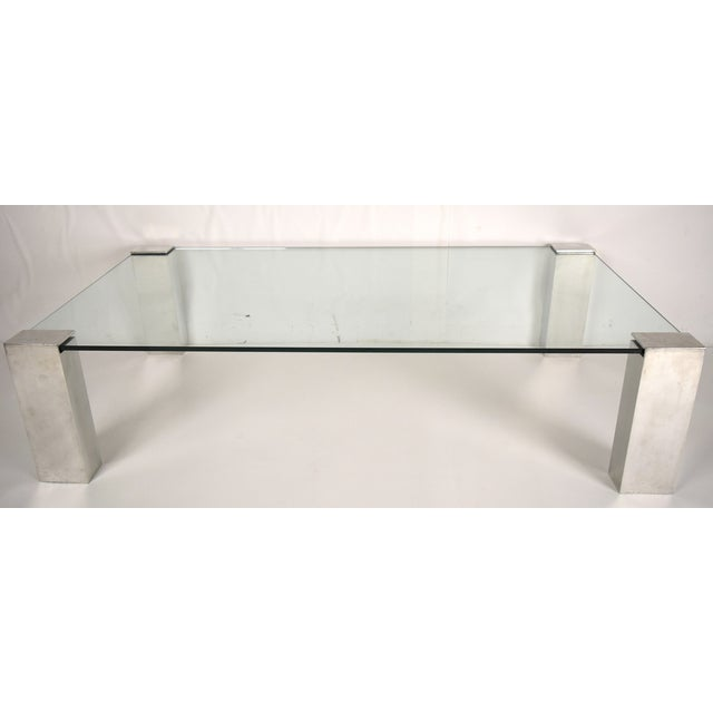 Mid-Century Modern Chrome & Glass Coffee Table - Image 5 of 6