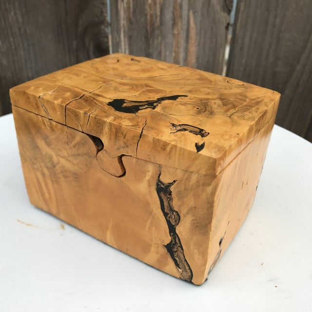 Raw Edge Wood Puzzle Box - Image 9 of 10