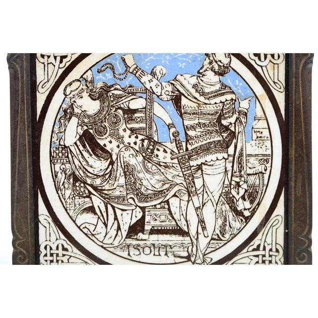 19th C. Minton Ceramic Tiles in a Bronze Jardiniere - Image 8 of 9