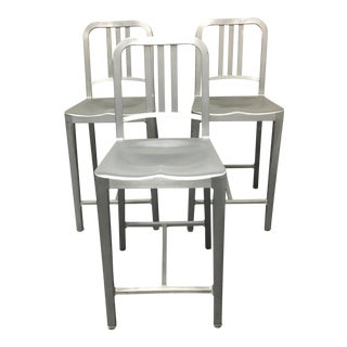DWR Emeco Aluminum Counter Stools - Set of 3