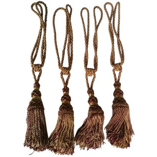 Silk Drapery Tie Back Tassels - Set of 4
