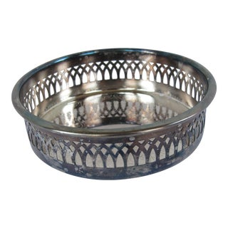 Vintage Silver-plate Wine Coaster