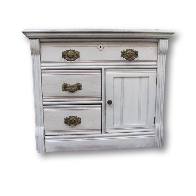 shabby chic nightstand chairish. Black Bedroom Furniture Sets. Home Design Ideas