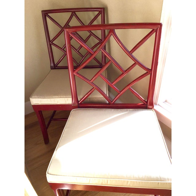 Hickory Chair Fretwork James River Side Chairs - A Pair - Image 6 of 10