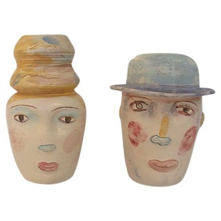 Male and Female Studio Pottery - Pair