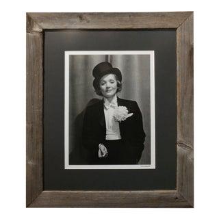 Marlene Dietrich 1929 - Silver Gelatin Photograph -Signed by Alfred Eisenstaedt