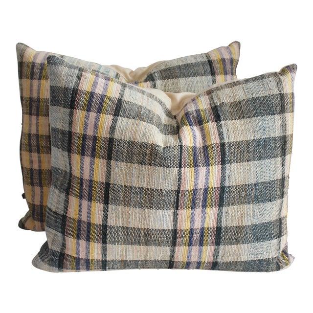 Rag Rug Pillows - Image 1 of 4