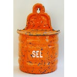 Image of 1940s French Marbleized Enameled Sel/Salt Holder