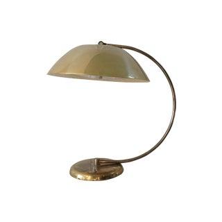 Mid-Century Brass Flying Saucer Desk Lamp