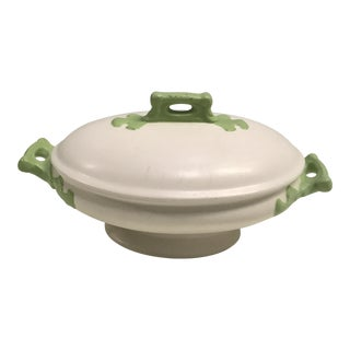 Green & White Tureen