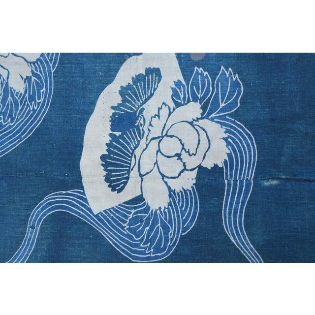 Antique Japanese Indigo Tsutsugaki Cloth - Image 5 of 6