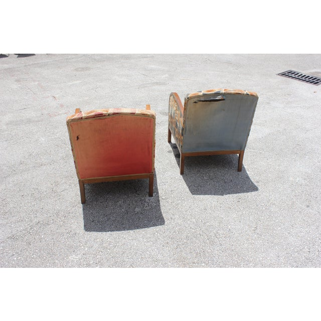 French Art Deco Sold Mahogany Speed Armchairs - A Pair - Image 6 of 11