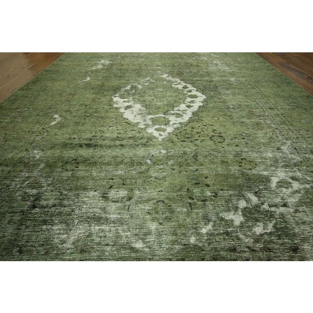 Traditional Green Overdyed Area Rug - 8' x 11' - Image 6 of 10