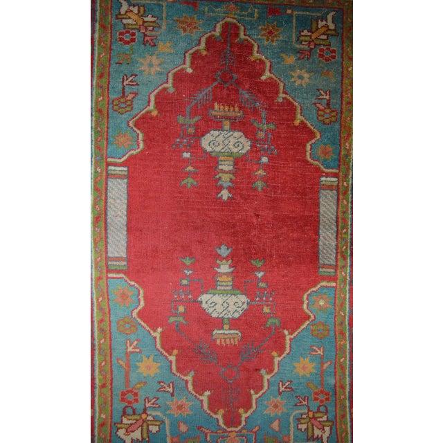 """Antique Turkish Oushak Rug - 3'7"""" x 5'6"""" - Image 4 of 7"""
