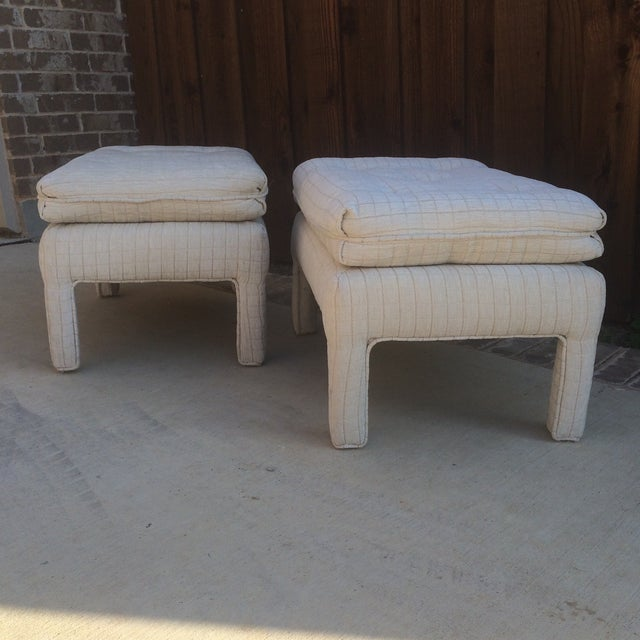 Vintage Parsons Style Footstools - A Pair - Image 3 of 6