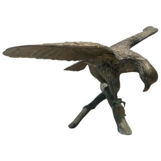 Mid-Century Bronze Eagle Sculpture
