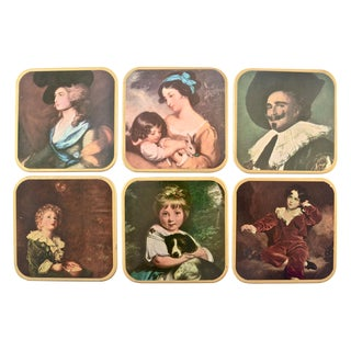 English Boxed Coaster Set - Set of 7