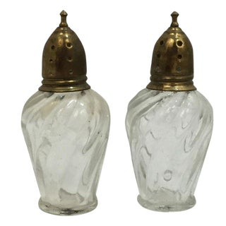 Antique Salt & Pepper Shakers - A Pair