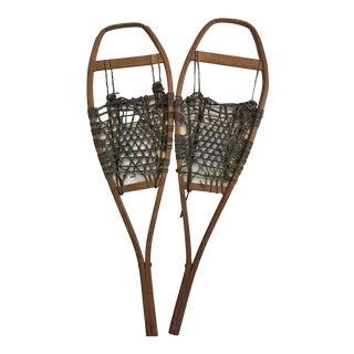 Antique Hardwood Rustic Snowshoes - a Pair