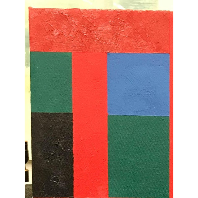 Vintage Adam Kubach Geometric Abstraction Painting - Image 4 of 7