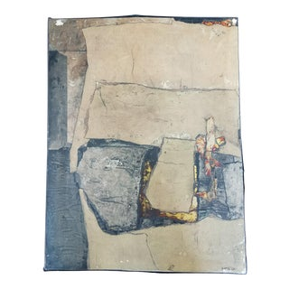 French Textured Collage Painting