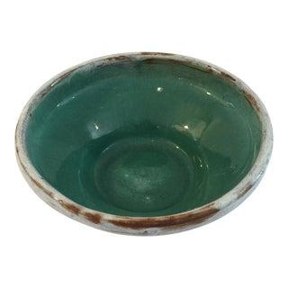 Turquoise Glaze California Artist Pottery Bowl