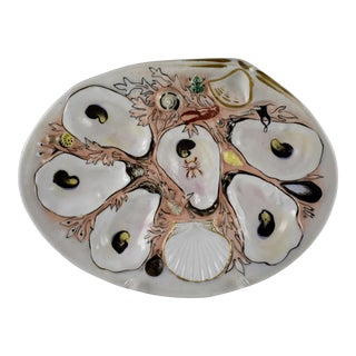 UPW Clam Shaped Salmon Ground Oyster Plate