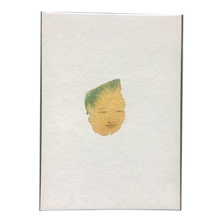 Abstract Minimal Face Watercolor