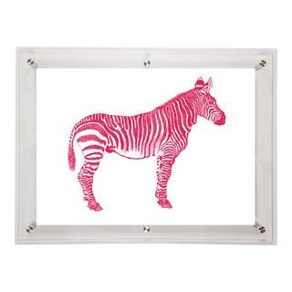 Mitchell Black Home Acrylic Framed Zebra Art Print