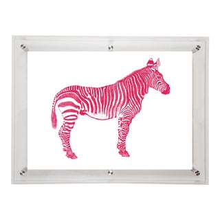 Mitchell Black Home Acrylic Framed Zebra Art Print