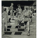 """Image of Isabel Bishop """"Students on the Steps,"""" Etching"""
