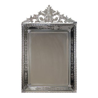 Antique Venetian Style French Pareclose Mirror circa 1890 (37″ w x 59″ h)