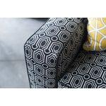 Image of Kinkaid Black & White Kaleidoscope Club Chair