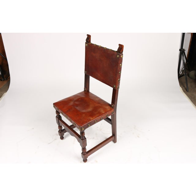 C.1900 Antique Spanish Chairs - A Pair - Image 9 of 9 - C.1900 Antique Spanish Chairs - A Pair Chairish