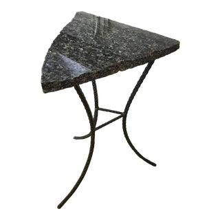 Tall Granite Top Rebar Based End Table