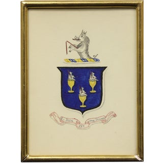 """""""Rearing Griffin Coat of Arms"""" Artwork"""