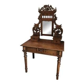 Hand-Carved Antique Balinese Vanity Table
