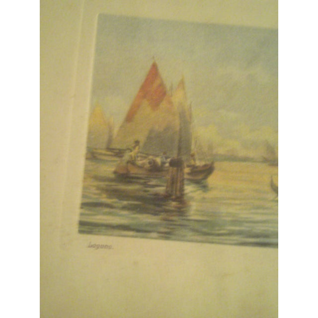 1920s Framed Colored Venice Print - Image 6 of 8