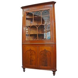 Early American Cherry Corner Cupboard