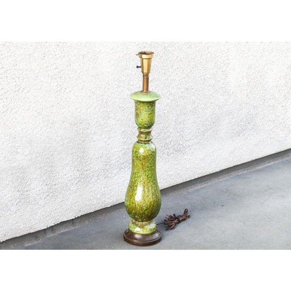 Vintage Green Ceramic Table Lamp - Image 2 of 6