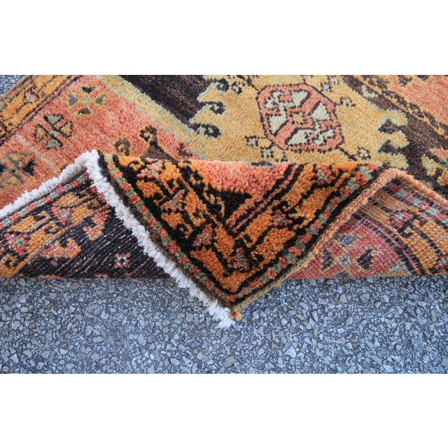 Vintage Turkish Oushak Tribal Hand Knotted Rug- 2′2″ × 3′5″ - Image 6 of 6