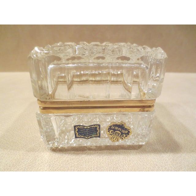 Vintage 1970s Beyer Crystal Glass Vanity Box - Image 2 of 7