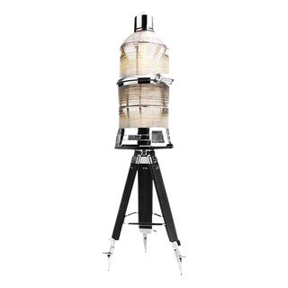 Polished Maritime Beacon Tripod Lamp